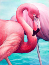 Galleritryk  Flamingo - Renate Berghaus