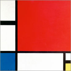 Galleritryk  Composition II in Red, Blue and Yellow - Piet Mondrian