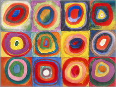 Galleritryk  Colour study - squares and concentric rings - Wassily Kandinsky