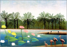 Galleritryk  The Flamingoes - Henri Rousseau