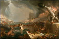 Selvklæbende plakat  The Course of Empire - Destruction - Thomas Cole