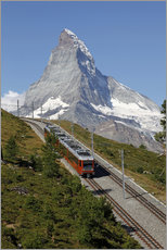 Selvklæbende plakat  Excursion to the Matterhorn - Hans-Peter Merten