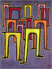 Galleritryk  Revolution of the Viaduct - Paul Klee