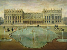 Galleritryk  Chateau de Versailles from the Garden Side - French School