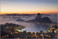 Galleritryk  Sugarloaf Mountain and Botafogo Bay - Ian Trower