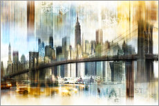 Galleritryk  Skyline New York Abstrakt Fraktal - Städtecollagen