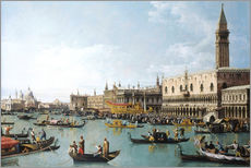 Selvklæbende plakat  Venice: The Basin of San Marco on Ascension Day - Bernardo Bellotto (Canaletto)