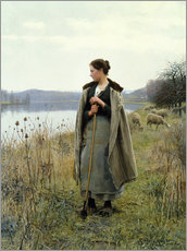 Galleritryk  The Shepherdess of Rolleboise - Daniel Ridgway Knight