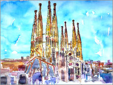 Galleritryk  Turquoise sky over the Sagrada Familia - M. Bleichner