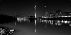 Galleritryk  Dusseldorf media harbor with Blutmond - rclassen