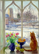 Galleritryk  Snow Shadows and Cat - Timothy Easton