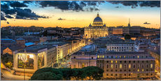 Selvklæbende plakat  Roma St. Peters dome - FineArt Panorama