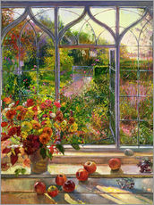 Selvklæbende plakat  Autumn view - Timothy Easton
