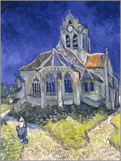Akrylbillede  The Church at Auvers-sur-Oise - Vincent van Gogh
