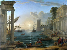 Galleritryk  Seaport with the Embarkation of the Queen of Sheba - Claude Lorrain