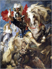 Premium-plakat  St. George and the Dragon - Peter Paul Rubens