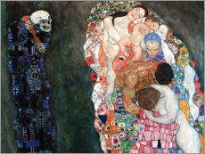 Print på træ  Death and Life - Gustav Klimt