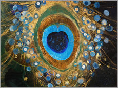 Galleritryk  Painting Resembling A Peacock Feather - Tara Thelen