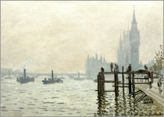 Galleritryk  The Thames below Westminster - Claude Monet