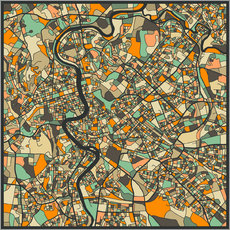 Galleritryk  Rome Map - Jazzberry Blue