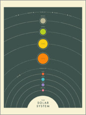 Premium-plakat  The solar system - Jazzberry Blue