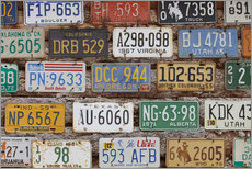Galleritryk  Car Plates - Rainer Mirau