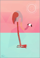 Galleritryk  PINK FLAMINGO - Mark Ashkenazi