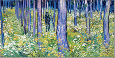 Akrylbillede  Undergrowth with Two Figures - Vincent van Gogh
