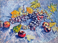 Akrylbillede  Grapes, Lemons, Pears and Apples - Vincent van Gogh