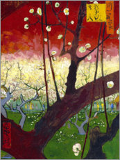 Lærredsbillede  Flowering Plum Orchard (after Hiroshige) - Vincent van Gogh