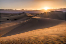 Selvklæbende plakat  Sunset at the Dunes in Death Valley - Andreas Wonisch