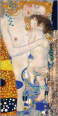 Selvklæbende plakat  Mother with child - Gustav Klimt