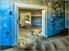 Galleritryk  Sand in the premises of an abandoned house - Robert Postma