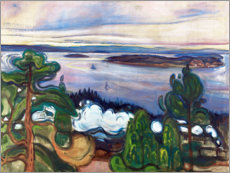 Lærredsbillede  Train smoke - Edvard Munch