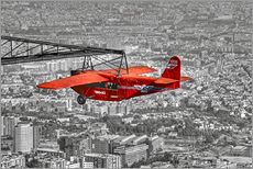 Selvklæbende plakat  Sightseeing flight over Barcelona - jens hennig
