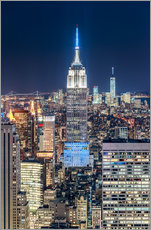 Selvklæbende plakat Empire State Building from Top Of The Rock