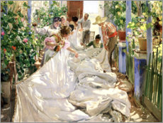 Galleritryk  Sewing the Sail - Joaquín Sorolla y Bastida
