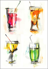 Galleritryk  Colorful drinks