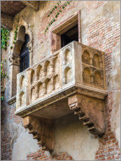 Galleritryk  Romeo and Juliet balcony, Verona