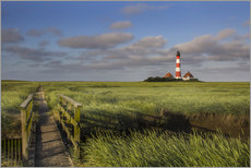 Galleritryk  Lighthouse in the salt marshes on the North Coast