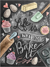 Selvklæbende plakat  Life is what you bake it - Lily & Val