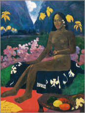 Selvklæbende plakat  Te aa no areois (The Seed of the Areoi) - Paul Gauguin