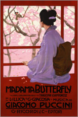 Print på skumplade  Puccini, Madame Butterfly - Leopoldo Metlicovitz