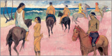 Print på aluminium  Rider on Beach - Paul Gauguin