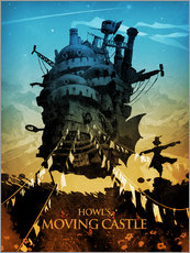 Galleritryk  Howl's Moving Castle (Det levende slot) - Albert Cagnef