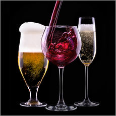 Galleritryk  drinks - beer, wine and champagne