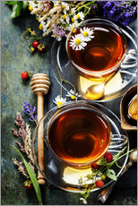 Galleritryk  Herbal tea with honey, berry and flowers