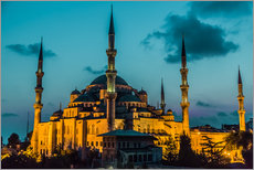 Selvklæbende plakat  Blue Mosque in Istanbul