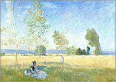 Print på træ  Summer - Claude Monet