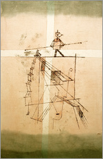 Selvklæbende plakat  Tightrope Walker - Paul Klee